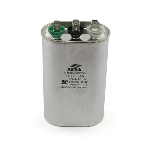 AllTek Oval  Dual Motor & Compressor Run Capacitor 370-440 VAC