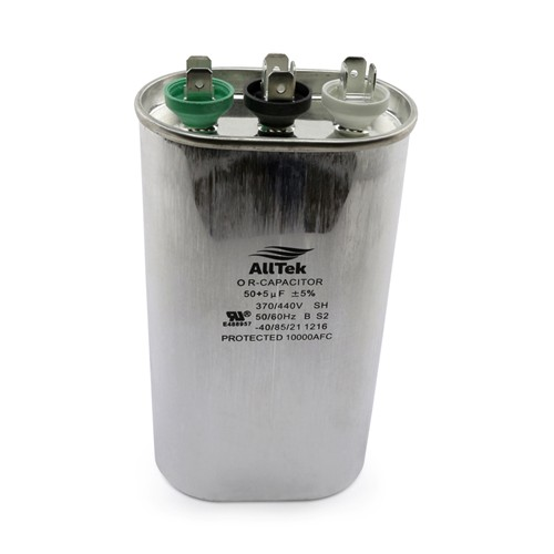 AllTek Oval Run Capacitor  50 + 5 MFD x 370/440V