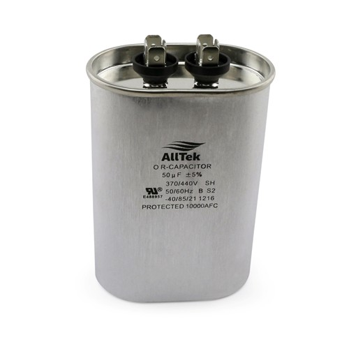 AllTek Oval Run Capacitor  50 MFD x 370/440V