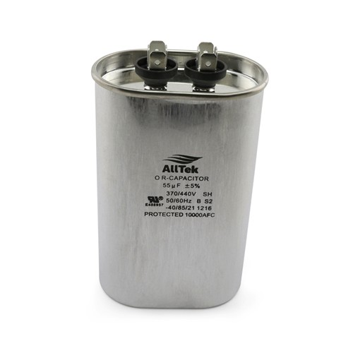 AllTek Oval Run Capacitor  55 MFD x 370/440V