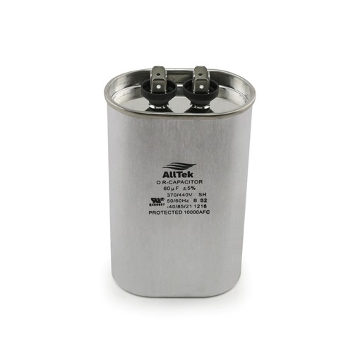 AllTek Oval Run Capacitor  60 MFD x 370/440V