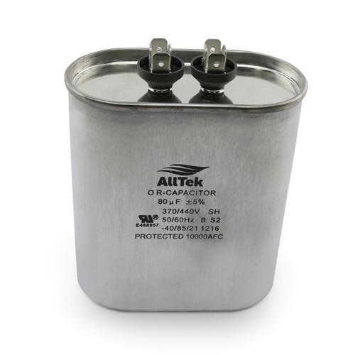 AllTek Oval Run Capacitor  80 MFD x 370/440V