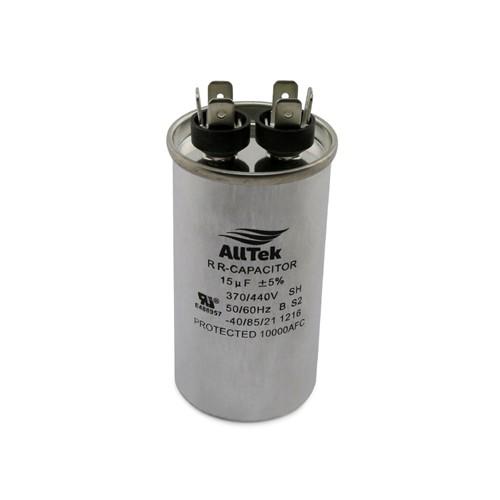AllTek Round Run Capacitor  15 MFD x 370/440V