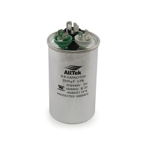 AllTek Round Run Capacitor  25  + 5  MFD x 370/440V