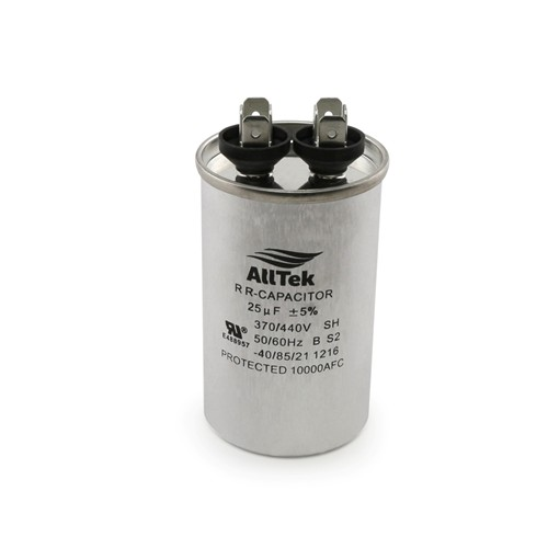 AllTek Round Run Capacitor  25  MFD x 370/440V