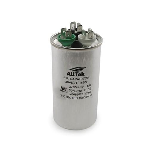 AllTek Round Run Capacitor  30 + 5  MFD x 370/440V