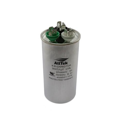 AllTek Round Run Capacitor  30 + 7.5  MFD x 370/440V