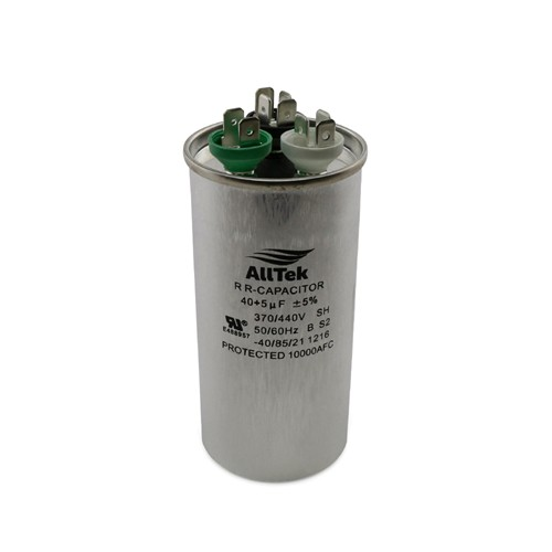 AllTek Round Run Capacitor  40 + 5 MFD x 370/440V