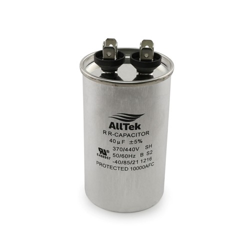 AllTek Round Run Capacitor  40 MFD x 370/440V
