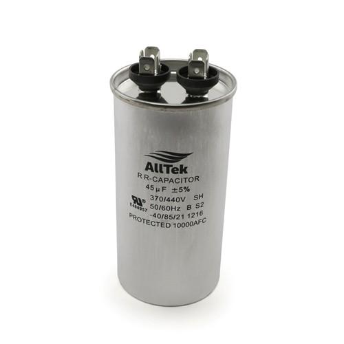 AllTek Round Run Capacitor  45 MFD x 370/440V
