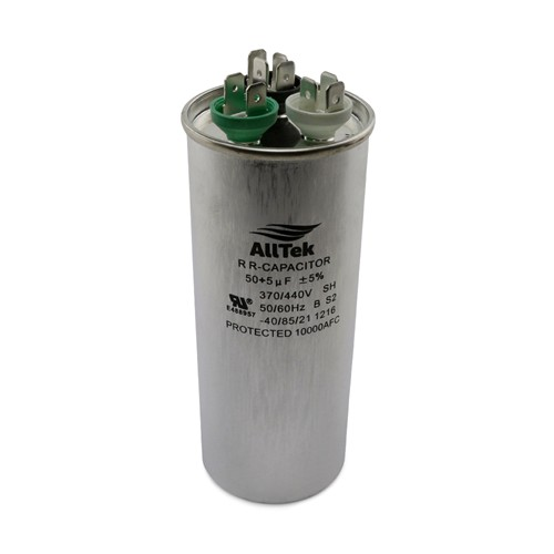 AllTek Round Run Capacitor  50 + 5 MFD x 370/440V