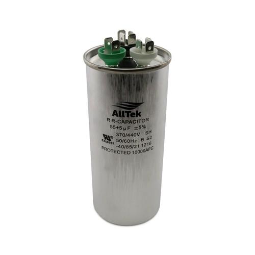 AllTek Round Run Capacitor  55 + 5 MFD x 370/440V