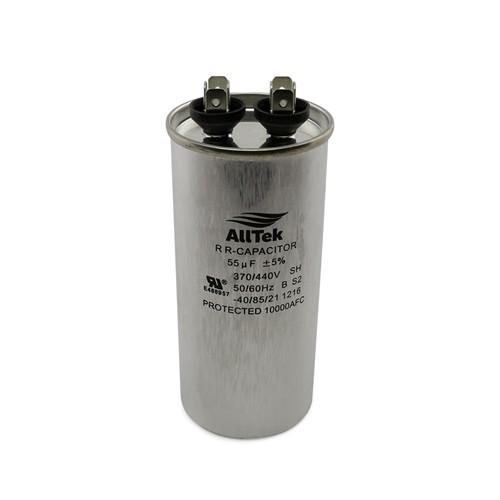 AllTek Round Run Capacitor  55 MFD x 370/440V