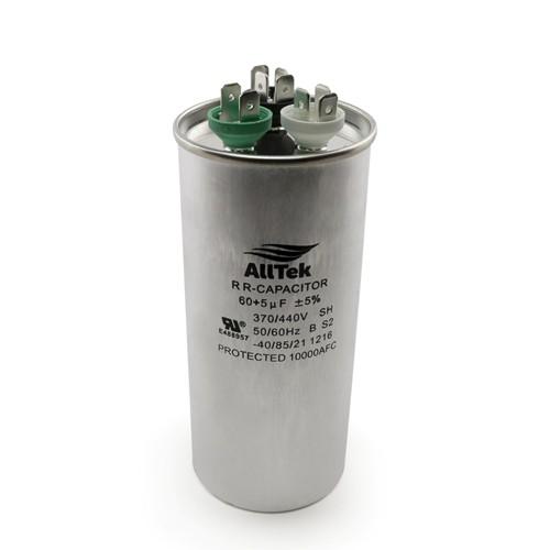 AllTek Round Run Capacitor  60 + 5 MFD x 370/440V