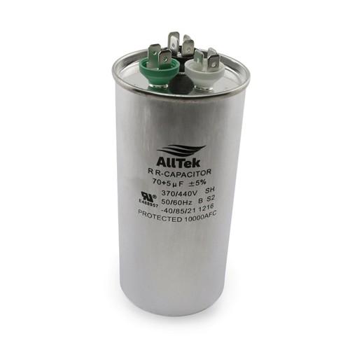 AllTek Round Run Capacitor  70 + 5 MFD x 370/440V
