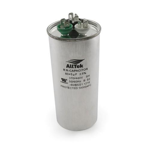 AllTek Round Run Capacitor  80 + 5 MFD x 370/440V