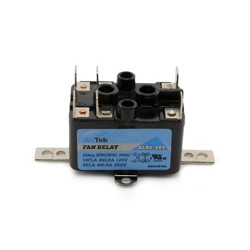 AllTek Fan Relay 90-380 24VAC control circuit 13 Amp Load.