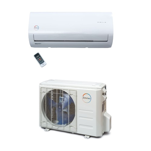 Zenaire R-410A Up to 16 SEER Wall-Mount Heat Pump Ductless Systems, 115V