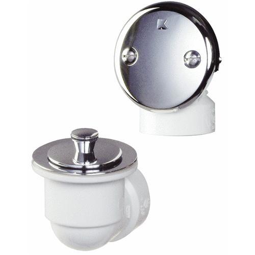 Plumb Pak/Keeney Mfg. Schedule 40 - PVC - Bathtub Drain Stopper - Brass Lift 'N Turn