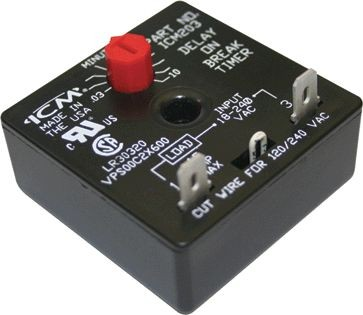 ICM Corp Delay On Break Timer 2-Wire Hookup - Adjustable