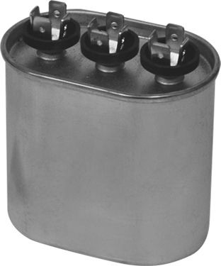 Motors and Armatures Oval Motor Dual Section Capacitor  80/5 MFD x440V