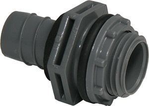 Motors and Armatures PVC Straight Connector, 1/2
