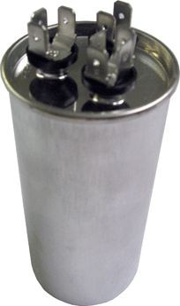 Motors and Armatures Round  Dual Section Capacitor 50/5 MFD x370V