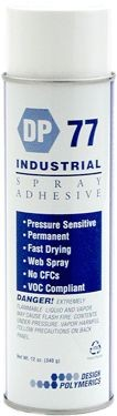 Design Polymerics Adhesive, 12oz Clear Aerosol
