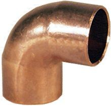 Bramec Copper Elbow, 3/8