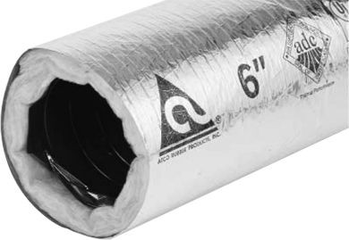 "Atco Flex Duct, 6""x25' R6 Ins Dbl Ply Poly Series30"