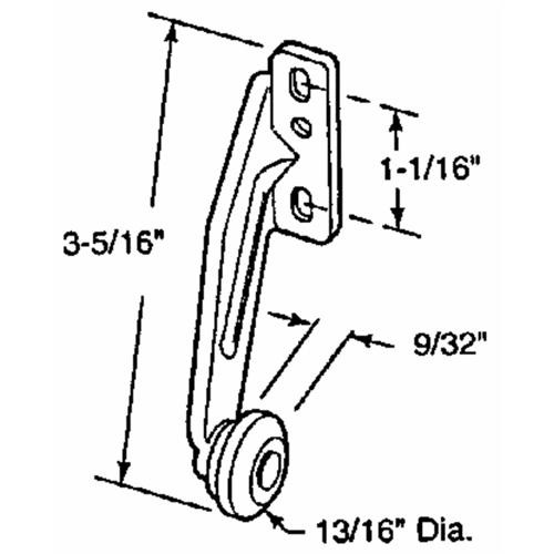 Prime Line Prod. Rear Drawer Roller Bracket