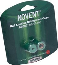 Rectorseal Locking Refrigerant Cap, 2/Pack Green R22