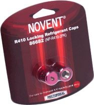 Rectorseal Locking Refrigerant Cap, 2/Pack Pink R410