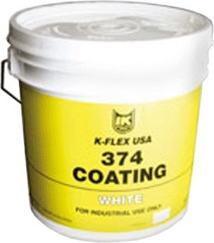 K-Flex USA Protective Coating, 1 gal White UV Resist f/Insulation