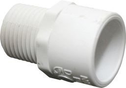 PVC Schedule 40 Fittings PVC Adapter, 3/4