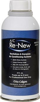 Nu-Calgon Refrigeration Oil, 4 Fluid oz Can A/C Re-New