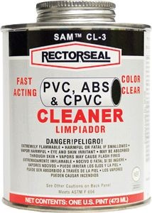 Rectorseal SamT CL-3 PVC Cleaner