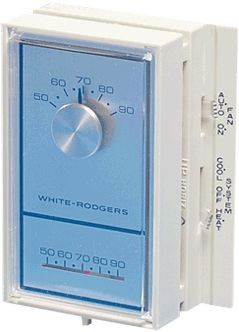 White-Rodgers Thermostat, 1-Stage Heat/Cool Vertical-Mount Universal