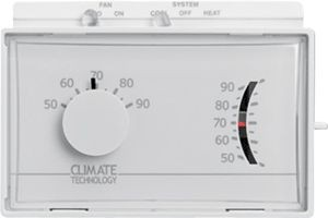 Climate Technology Corp (CTC) Thermostat, 20-30VAC Horiz Mechanical Heat/Cool