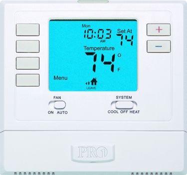Pro1 IAQ Thermostat, 5+1+1 1Heat/1Cool Single-Stage Digital