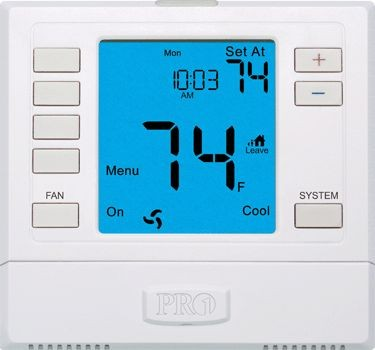 Pro1 IAQ Thermostat, 5+1+1 Non-Program 3 Heat/2Cool Univ Humidity