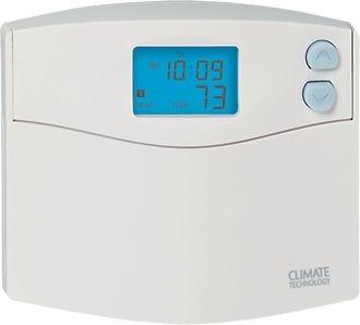 Climate Technology Corp (CTC) Thermostat, 5+2 Prog Sgl Stg Heat/Cool + Heat Pumps