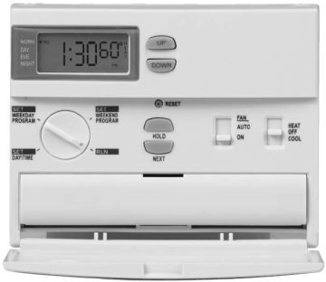 LUX PRODUCTS Thermostat, 5-2 Prog 1H1C Horiz Sys/Battery Lighted Non-HP