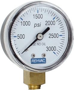 Rehvac Sterling Gauge, 3,000 psi High Pressure Replacement