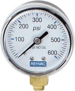 Rehvac Sterling Gauge, 600 psi Low Pressure Replacement