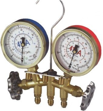 Mastercool Inc R-22, R-404A, R-410A Brass Manifolds with Hoses