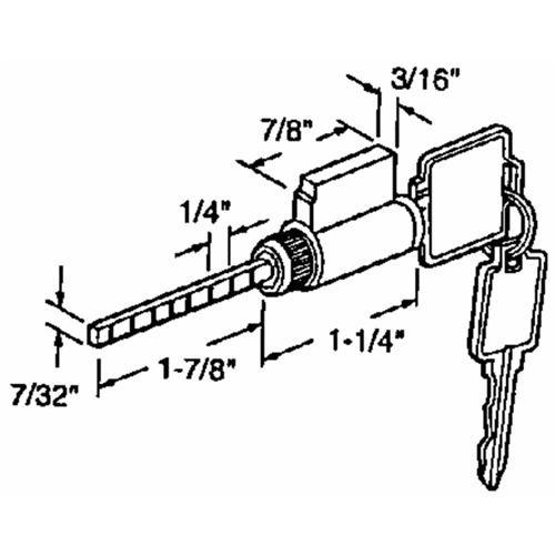 Prime Line Prod. Patio Lock Cylinder