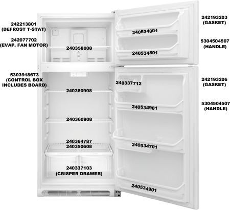 Frigidaire 240337103 Crisper Drawer, 2