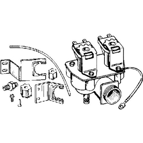 Whirlpool 4318046 Ice Maker Valve, Double Outlet Whirlpool