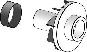 Whirlpool 4386996 Dishwasher Part, Impeller & Seal Kit